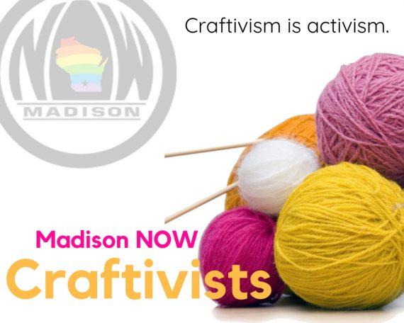 Madison NOW Craftivism Committee logo